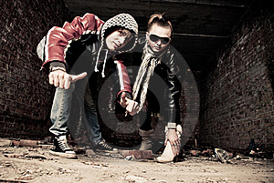 Young Gangs Royalty Free Stock Image - Image: 17370036