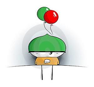 Cool Cartoon Boy Royalty Free Stock Photo - Image: 17371295