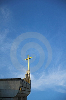 Church And Cross Royalty Free Stock Images - Image: 17371679