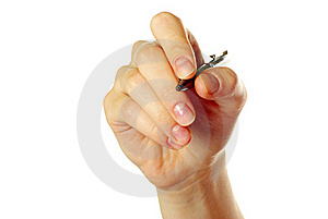 Hand Holding Pen Stock Photo - Image: 17372520