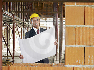 Architect In Construction Site Royalty Free Stock Images - Image: 17373359