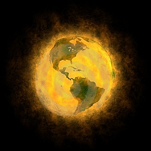 Total Warming Of Planet Earth - America Royalty Free Stock Photo - Image: 17373795