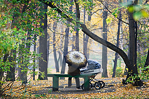 In Autumn Park Royalty Free Stock Photos - Image: 17374368
