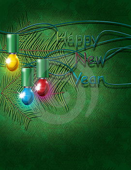 New Year Green Background Stock Image - Image: 17374651