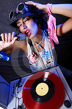 Cool DJ In Action Stock Image - Image: 17374721