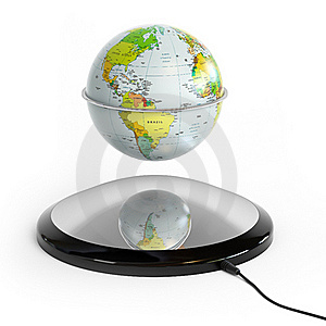 Globe In The Air Stock Image - Image: 17375101