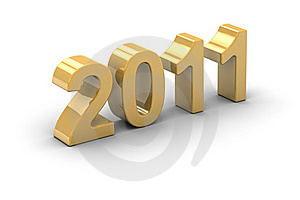 2011 Golden Year Royalty Free Stock Image - Image: 17376766