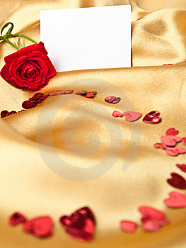 Red Rose And  Greeting Card Royalty Free Stock Image - Image: 17377466