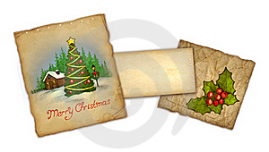 Old Christmas Greeting Card Royalty Free Stock Photos - Image: 17378858