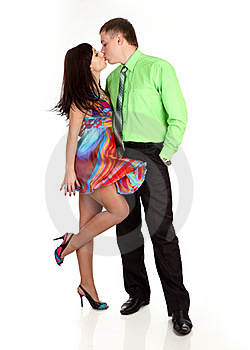 Loving Couple Kisses Stock Image - Image: 17382621