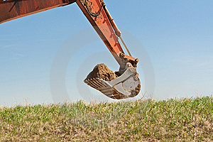 Hydraulic Excavator Arm And Bucket Royalty Free Stock Photography - Image: 17383237