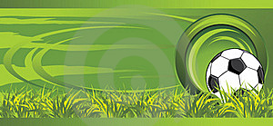 Soccer Ball On The Meadow. Decorative Banner Royalty Free Stock Photo - Image: 17384845