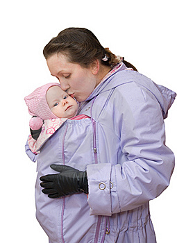 Mum In Sling-jacket With Baby Stock Photography - Image: 17384912
