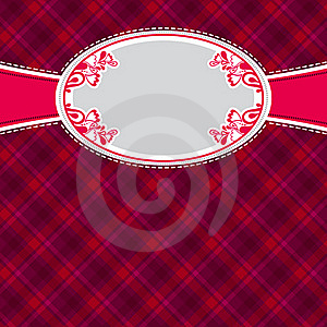 Checked Red Background With Label Royalty Free Stock Images - Image: 17385509