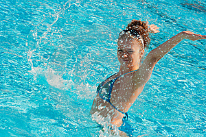 Happy Girl In Water Royalty Free Stock Photo - Image: 17385575