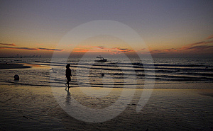 Woman On The Beach Stock Photo - Image: 17386230