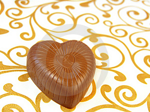 Mouthwatering Chocolates In A Heart-shaped Stock Photography - Image: 17386522