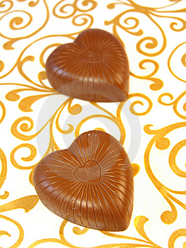 Mouthwatering Chocolates In A Heart-shaped Stock Photography - Image: 17386532