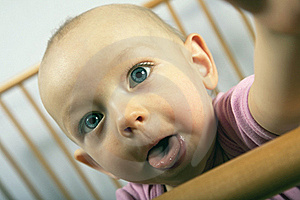Baby Shows Tongue Royalty Free Stock Images - Image: 17387079