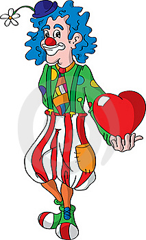 Vector Clown And Hearth Royalty Free Stock Photos - Image: 17387638