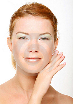 Beautiful Health Woman Face With Clean Purity Skin Stock Photography - Image: 17392562