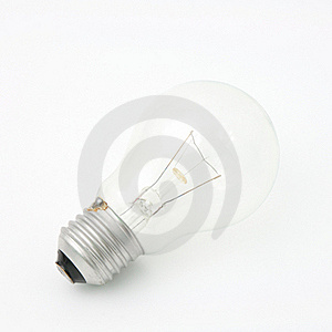 Horizontal Light Bulb Stock Photo - Image: 17394320