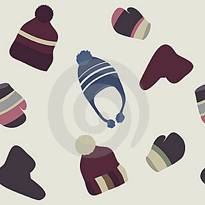 Pattern With Winter Baby Clothing Stock Photos - Image: 17396003