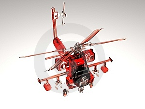 Red Helicopter Stock Photography - Image: 17398152