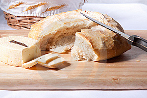 Fresh Bread And Cheese Royalty Free Stock Photo - Image: 17398405