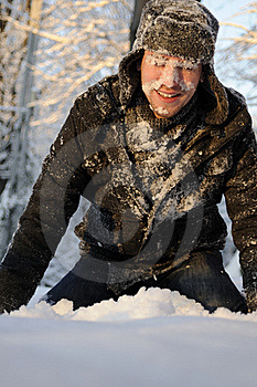 Teen Fighting With Snowballs Stock Photos - Image: 17398633