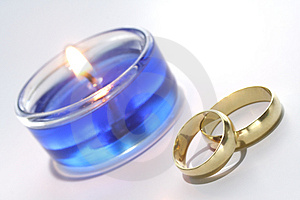Wedding Rings Decoration Stock Images