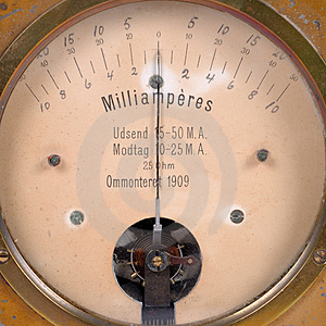 Ampere Meter Very Old Royalty Free Stock Photo - Image: 1740305