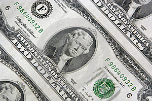 Two Dollar Bill Sheet Royalty Free Stock Photography - Image: 1743007