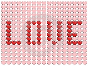 Love From Hearts Stock Images - Image: 1744354