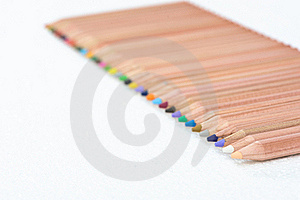 Color Pencil Fence Royalty Free Stock Photography - Image: 17400517