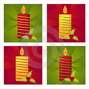 Set Of 4 Christmas  Backgrounds Royalty Free Stock Images - Image: 17401819