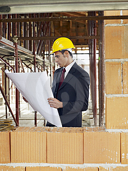 Architect In Construction Site Royalty Free Stock Image - Image: 17401846