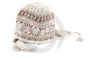 Warm Knitted Scarf And Cap Royalty Free Stock Images - Image: 17404039
