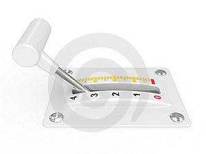 White Power Switch Of Electronics Device Stock Photo - Image: 17404200
