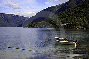 Boats On The Fjord, Norway Royalty Free Stock Photos - Image: 17404438