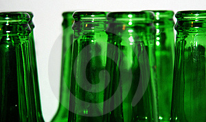Green Bottles Royalty Free Stock Images - Image: 17404839