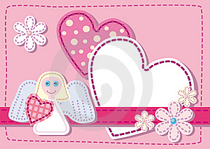 Background For Congratulating On A Heart Royalty Free Stock Images - Image: 17404919