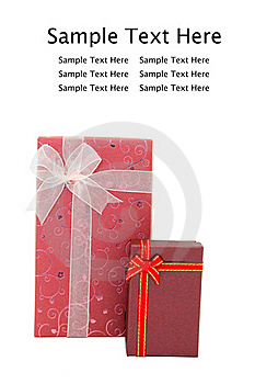 Red Holiday Gift Boxes Royalty Free Stock Images - Image: 17407249