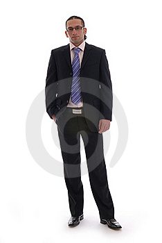 Business Man Isolated Against White Stock Image - Image: 17408171