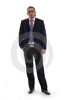 Business Man Isolated Against White Stock Image - Image: 17408171