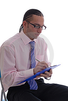 Business Man Isolated Against White Royalty Free Stock Images - Image: 17408259