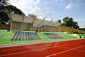 Stadium With Running Tracks Stock Photo - Image: 17408700