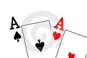 Aces Of Spades And Hearts Royalty Free Stock Image - Image: 17408956
