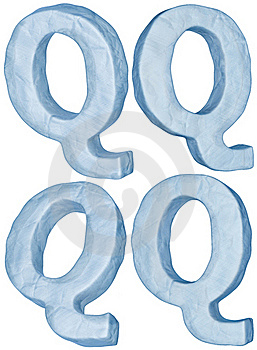 Icy Letter Q. Stock Photo - Image: 17409220