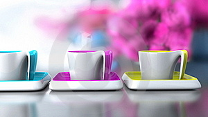 Cup Colored Royalty Free Stock Image - Image: 17411546